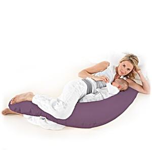 Подушка для беременных и кормящих Theraline Тералайн Германия 190 см Jersey фиолетовая