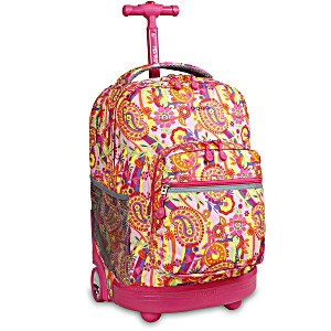 Универсальный школьный рюкзак на колесах JWORLD Sunrise арт. RBS18 Пейсли